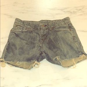 Levi's Acid Wash Stained Cut Off Jean Shorts